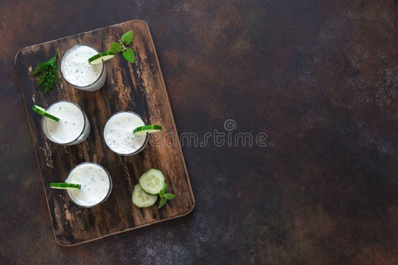 Ayran, homemade yogurt drink royalty free stock image