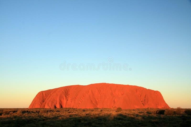 Ayres-Felsen, Australien lizenzfreies stockbild