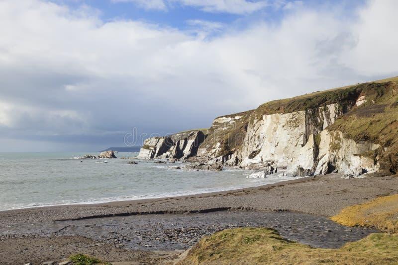 Ayrmer liten vik, Devon, England arkivfoto