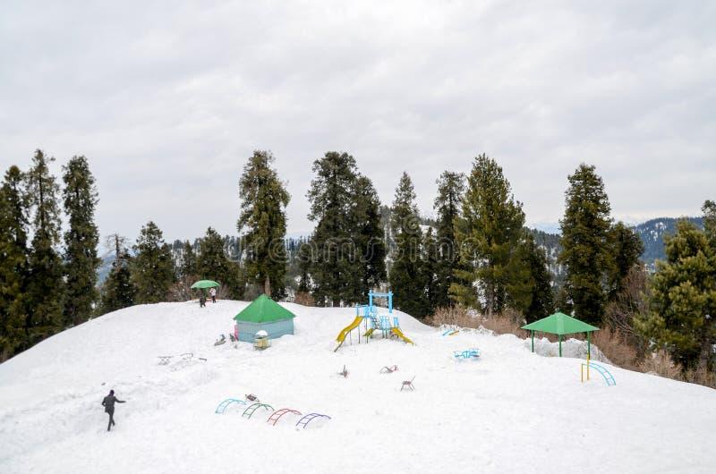 Ayubia park narodowy, Islamabad, Pakistan Halny Odgórny widok zdjęcie stock