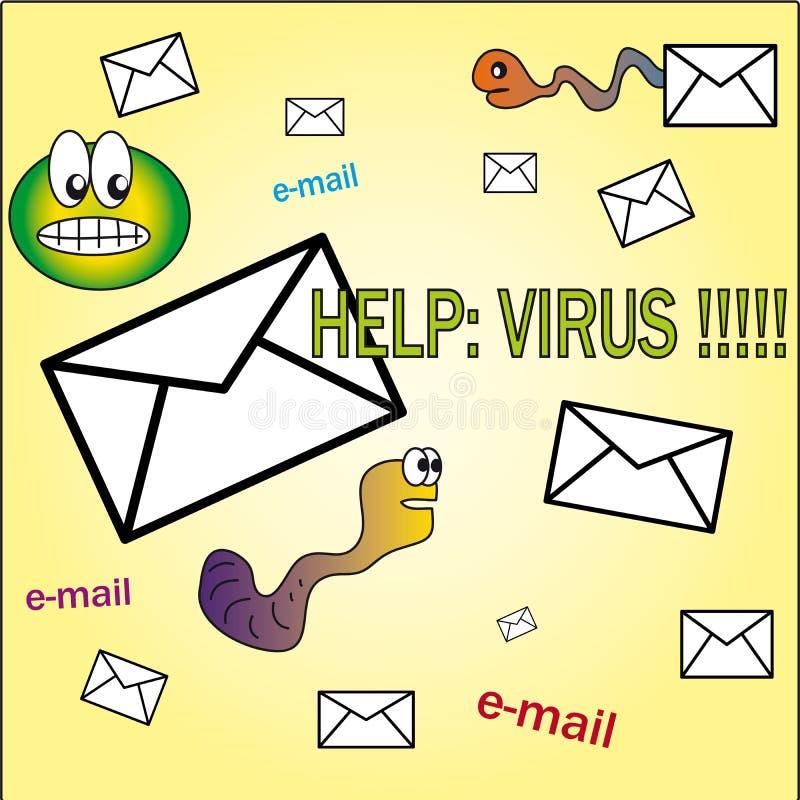 Ayuda: ¡virus!! stock de ilustración