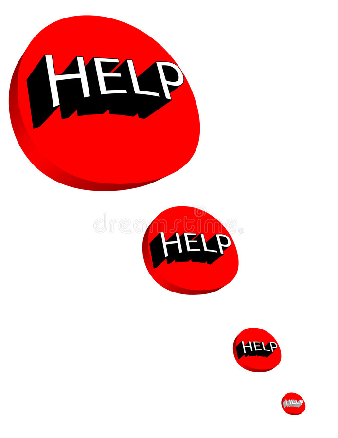 Ayuda stock de ilustración
