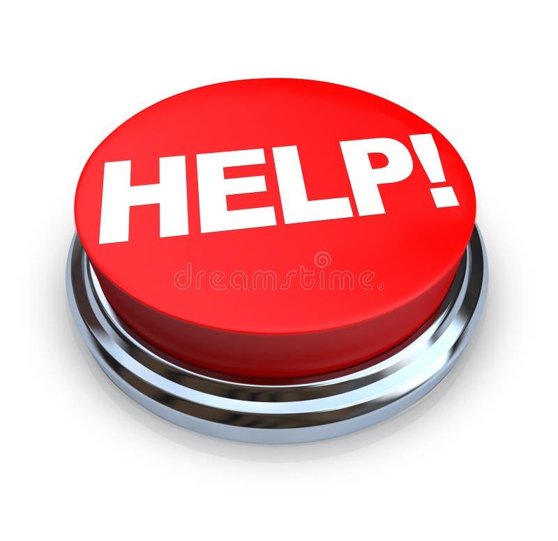 Ayuda - botón rojo ilustración del vector