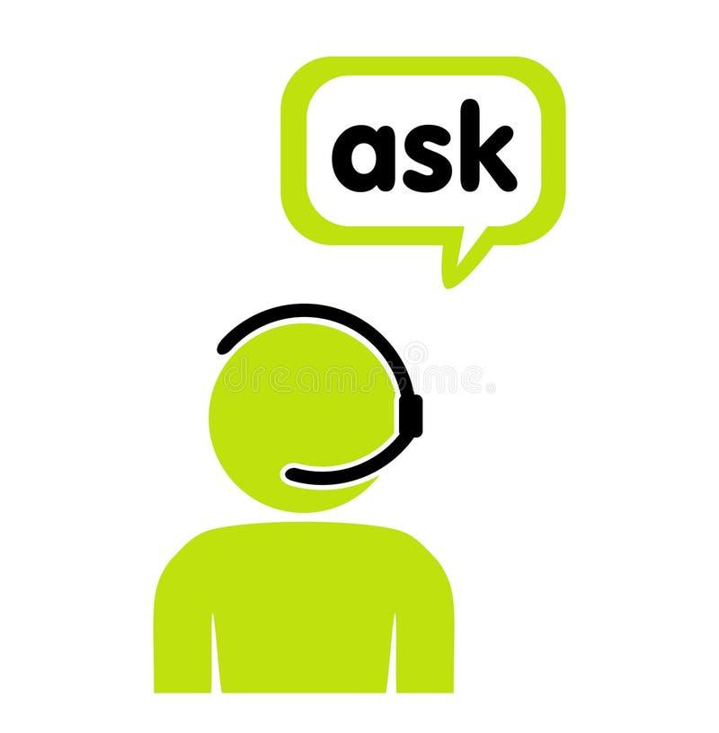 Ayuda, centro de llamada, ayuda stock de ilustración