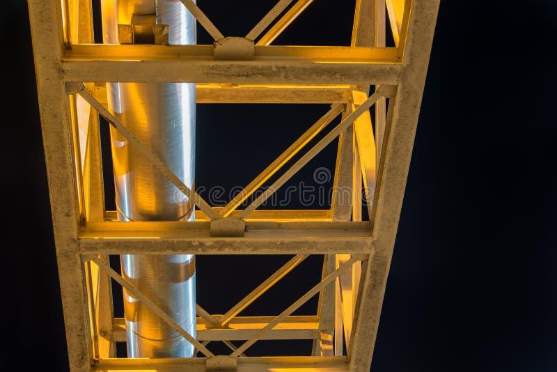 Ayuda de acero del tubo de la caldera fotografía de archivo