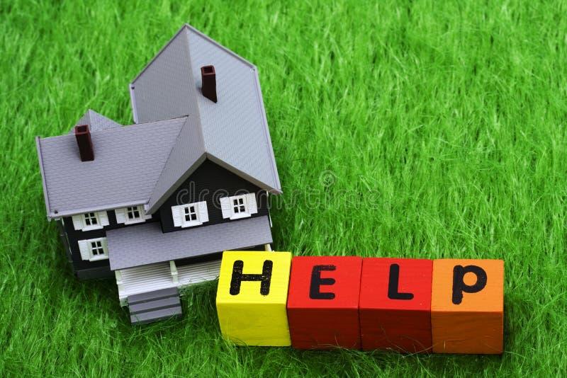 Ayuda de la hipoteca imágenes de archivo libres de regalías