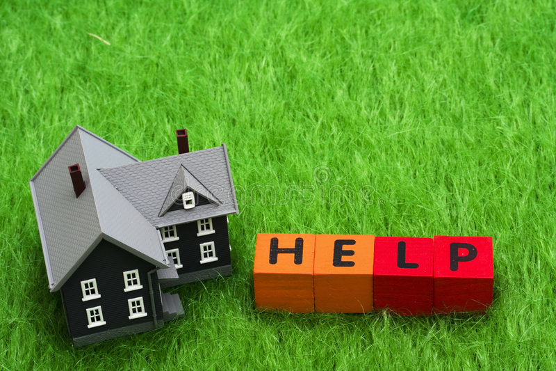 Ayuda de la hipoteca fotos de archivo libres de regalías