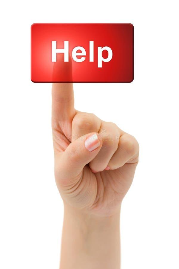 Ayuda de la mano y de botón