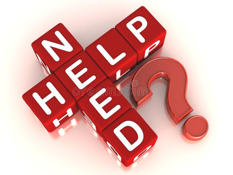 Ayuda de la necesidad libre illustration