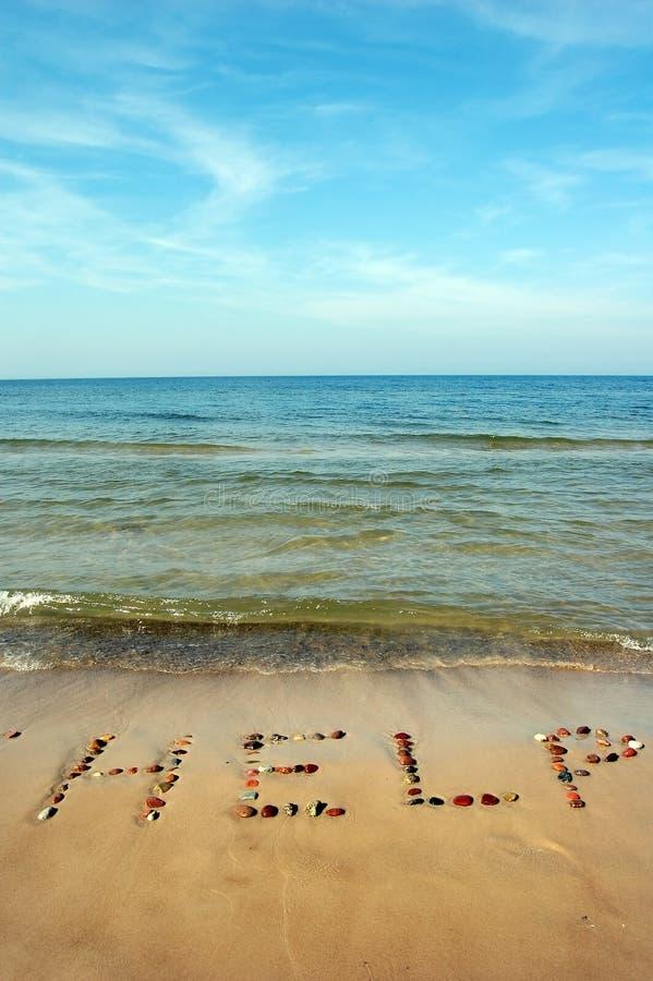 Download AYUDA De La Palabra En La Arena De La Playa Foto de archivo - Imagen de novia, cartas: 1286620