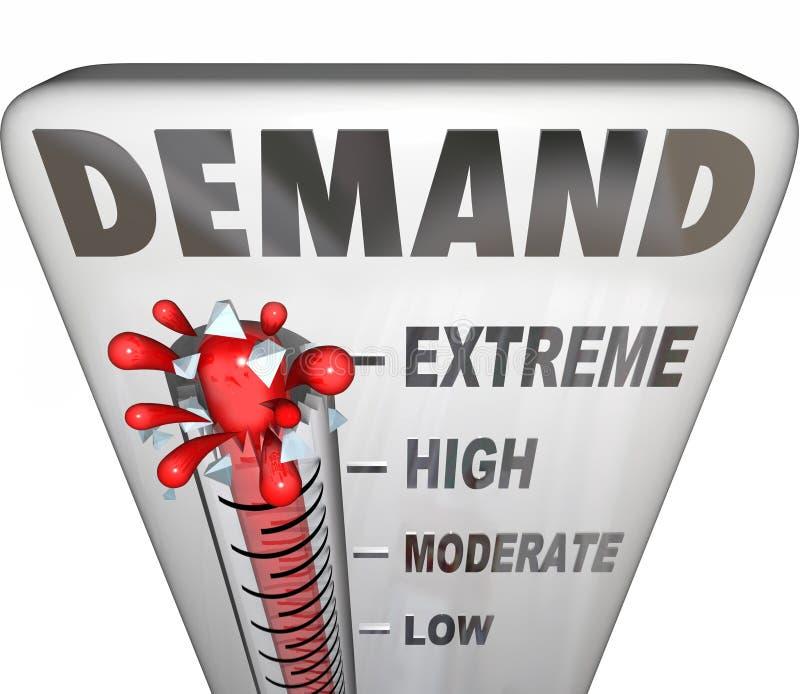 Ayuda de la respuesta del cliente de la medida del termómetro de la palabra de la demanda su B libre illustration