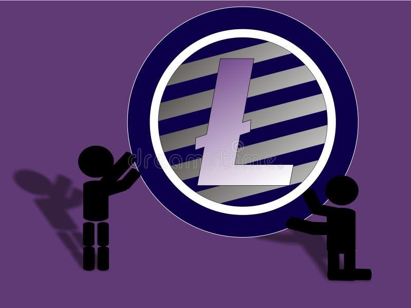 Ayuda de Litecoin stock de ilustración