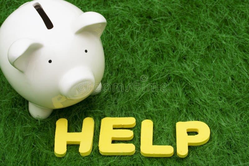 Ayuda de los ahorros imagen de archivo