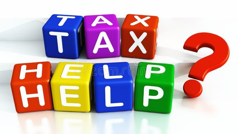 Ayuda del impuesto stock de ilustración