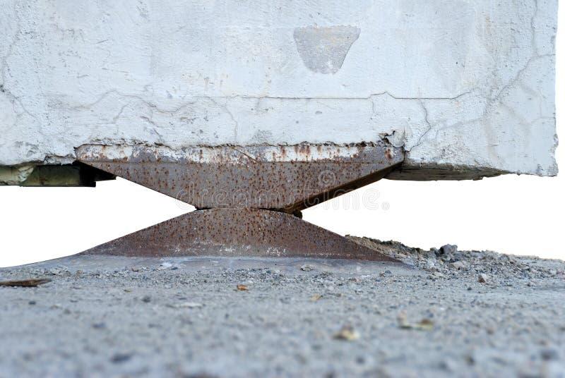 Ayuda del pilar del puente fotografía de archivo libre de regalías
