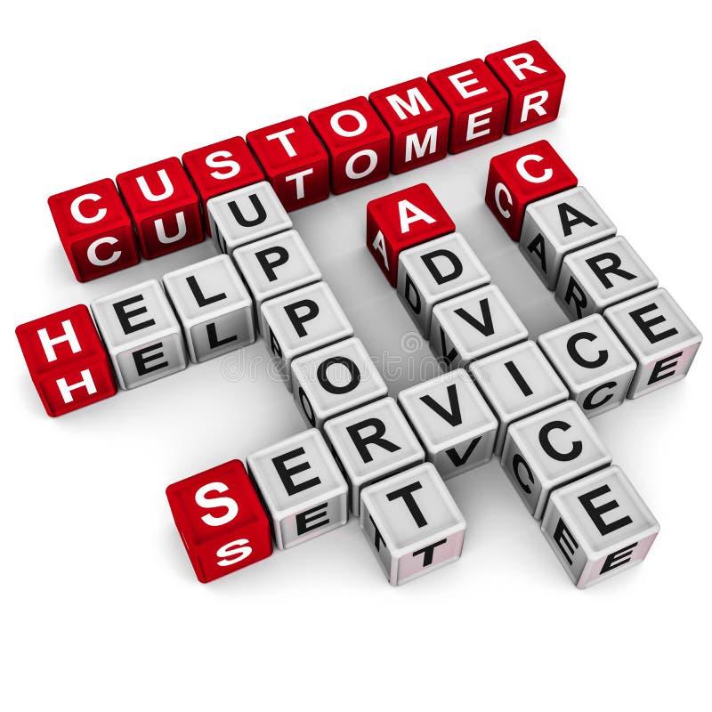 Ayuda del servicio de atención al cliente ilustración del vector