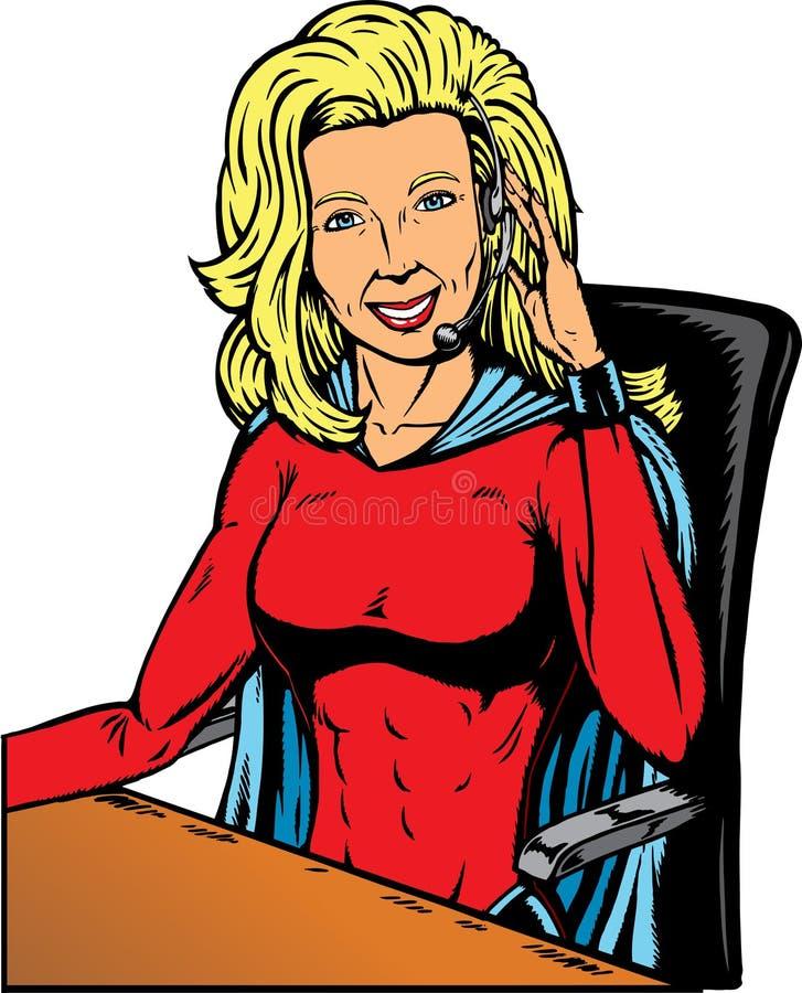 Ayuda del super héroe ilustración del vector