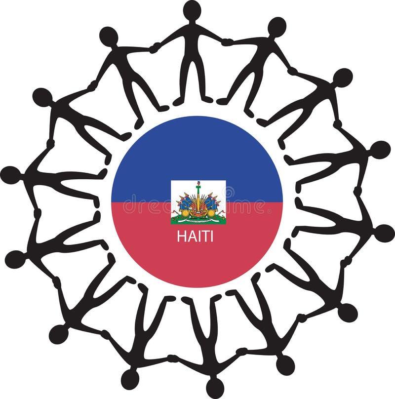 Ayuda Haití stock de ilustración