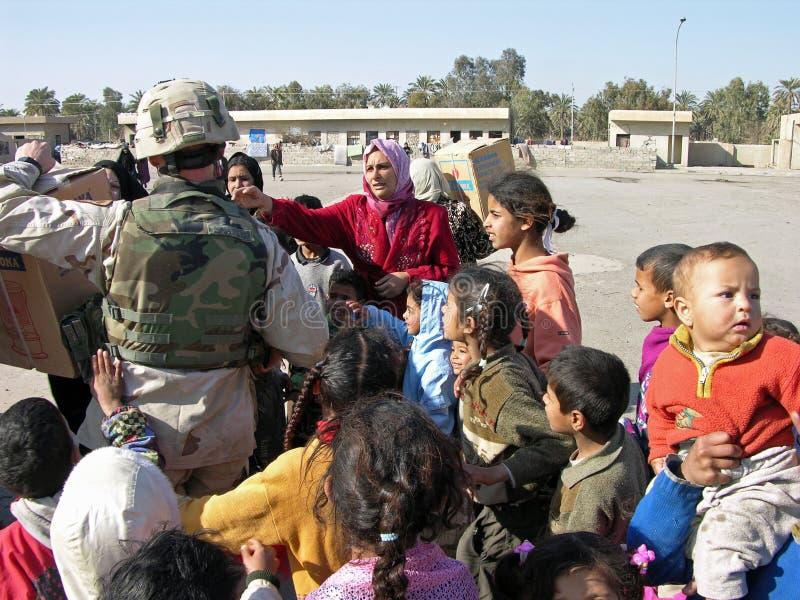 Ayuda humanitaria fotografía de archivo libre de regalías