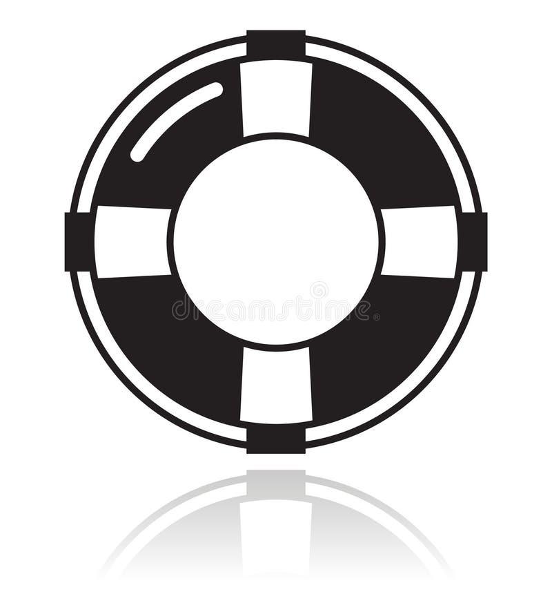 Ayuda - icono del negro de la correa de vida libre illustration