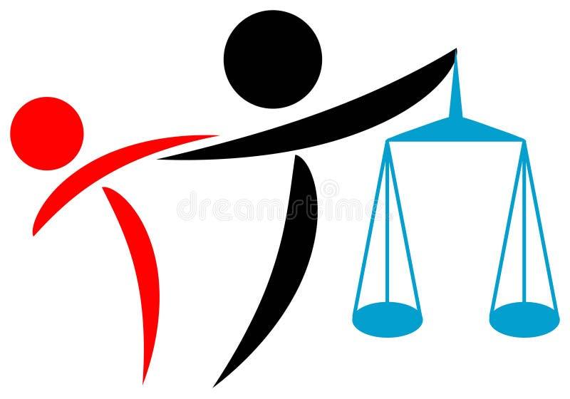 Ayuda legal ilustración del vector