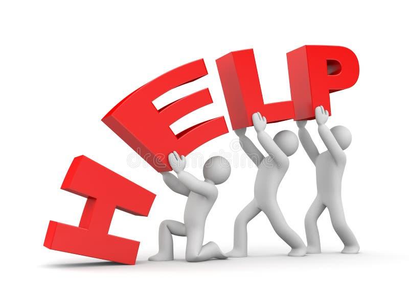 ayuda Metáfora del trabajo en equipo stock de ilustración