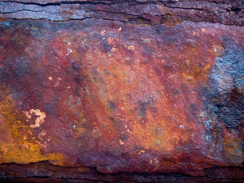 Ayuda oxidada del hierro imagen de archivo libre de regalías