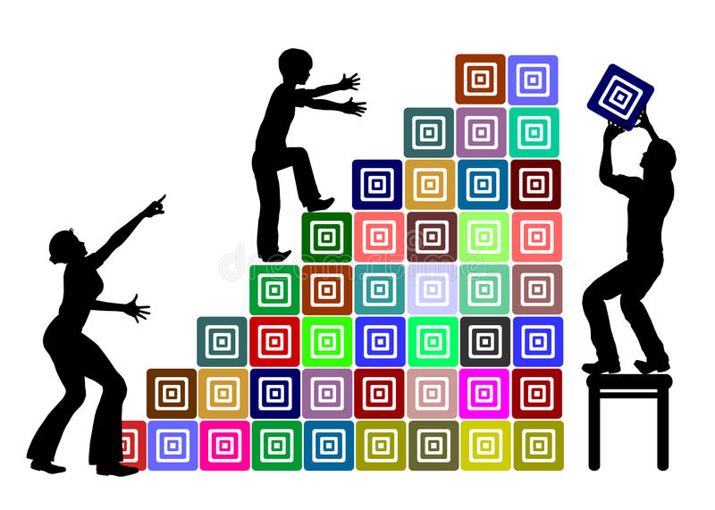 Ayuda parental en la educación stock de ilustración