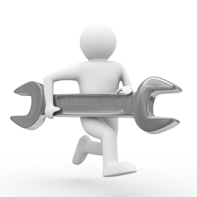 Ayuda técnica rápida en blanco ilustración del vector