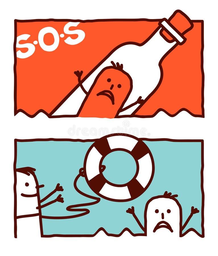 Ayuda y rescate libre illustration