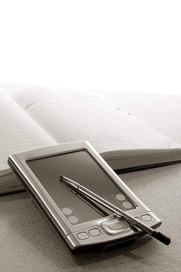 Ayudante de Digitaces personales Handheld imagen de archivo libre de regalías