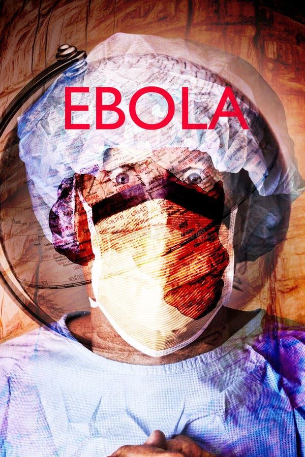 Ayudante de sanidad de la crisis de Ebola imagenes de archivo