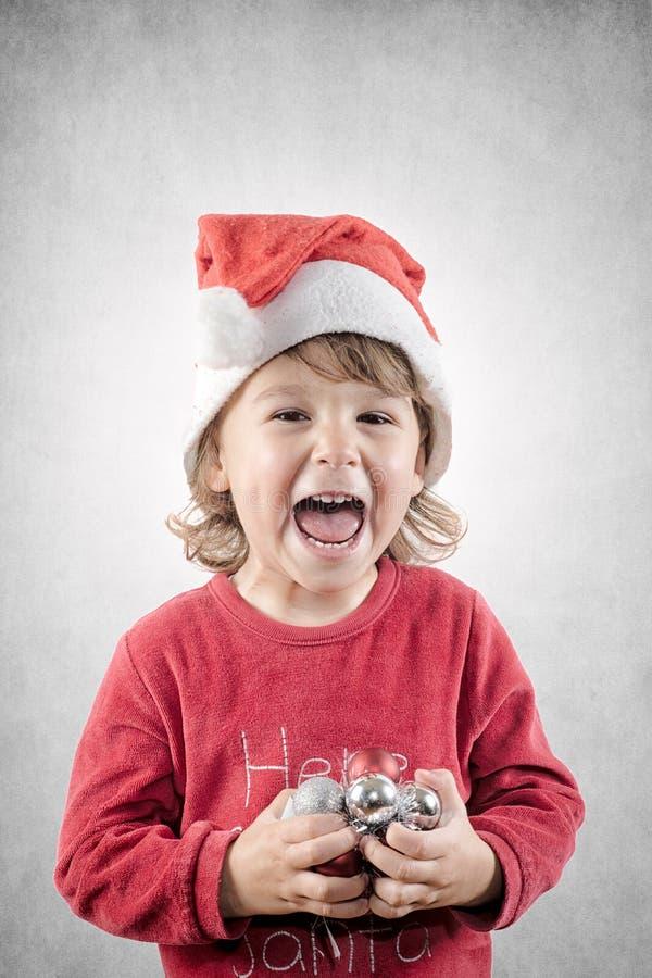 Ayudante feliz de Santa fotografía de archivo libre de regalías