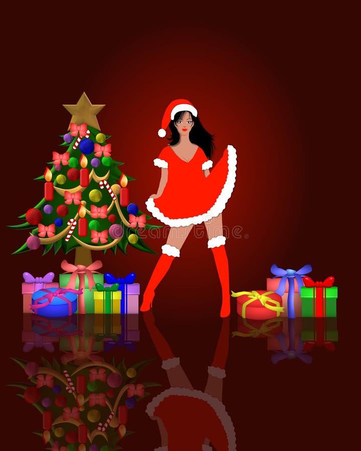 Ayudante y un árbol de Santa libre illustration