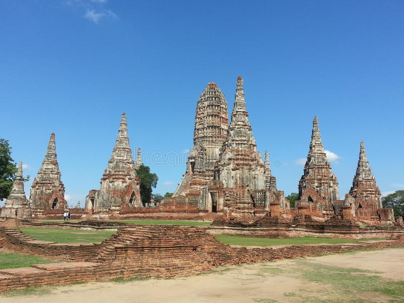 Ayudhaya Tajlandia historyczna świątynia fotografia stock