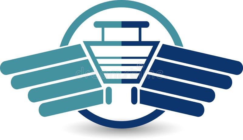 Ayuna el logotipo de la compra ilustración del vector