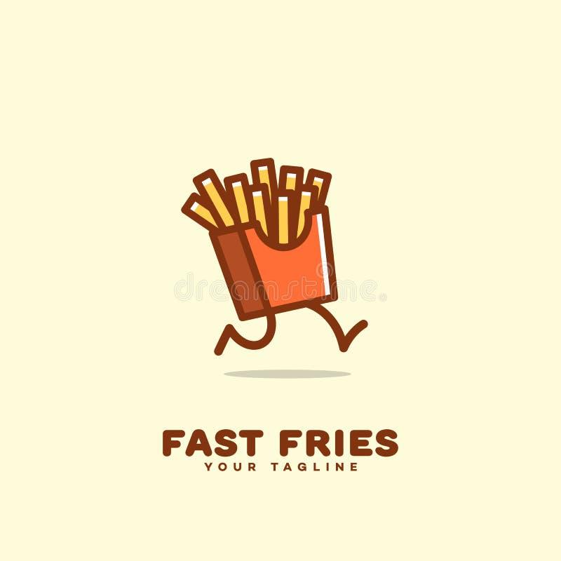 Ayuna el logotipo de las fritadas stock de ilustración