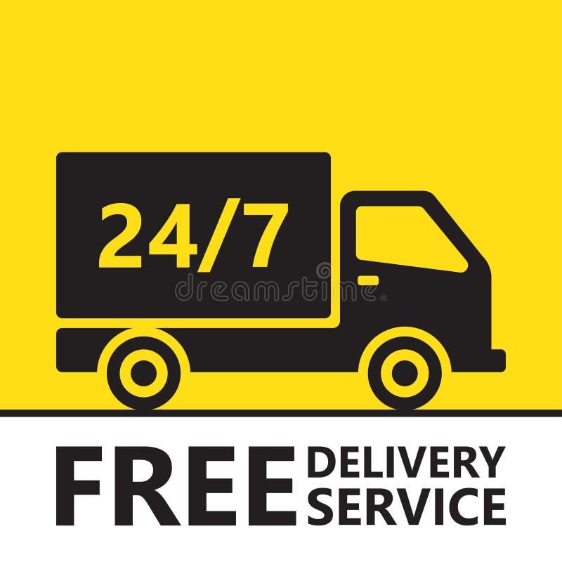 Ayuna y el camión de reparto del envío gratis libre illustration