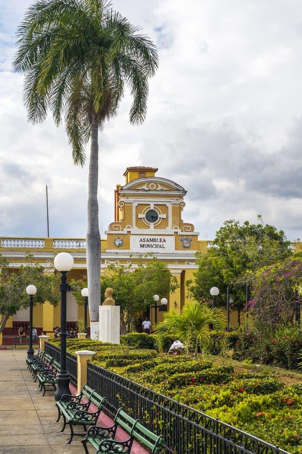 Ayuntamiento,特立尼达,古巴 库存图片