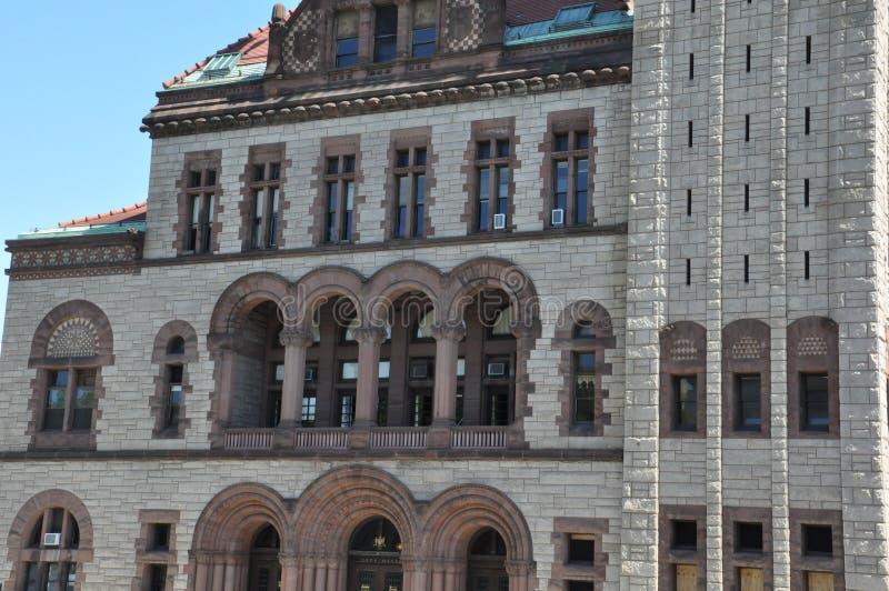 Ayuntamiento Albany en el Estado de Nueva York imagenes de archivo