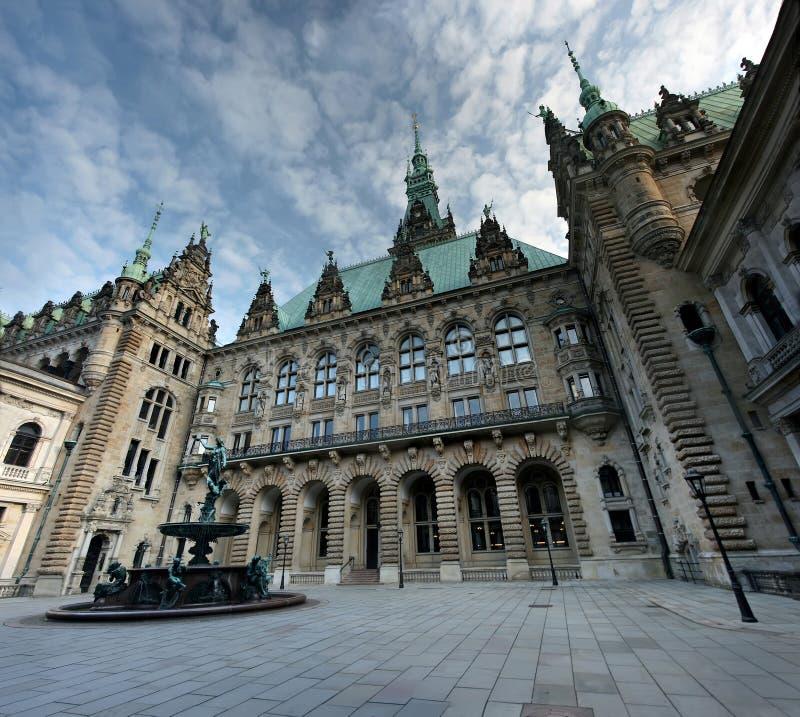 Ayuntamiento, Alemania Hamburgo imagen de archivo libre de regalías