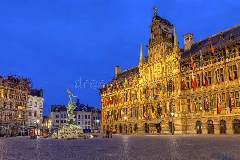 Ayuntamiento, Bélgica Amberes foto de archivo libre de regalías
