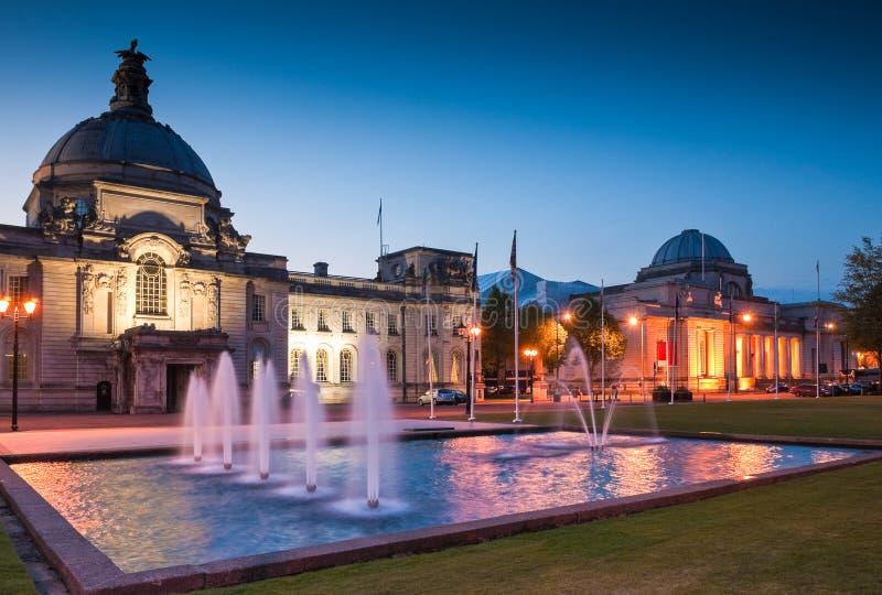 Ayuntamiento, Cardiff, Reino Unido fotografía de archivo libre de regalías