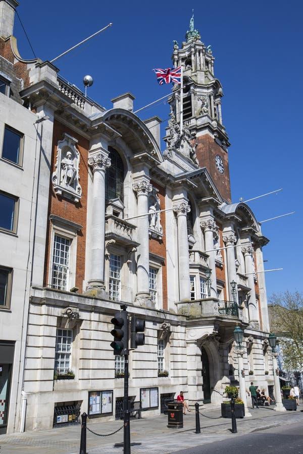 Ayuntamiento Colchester en Essex fotos de archivo libres de regalías