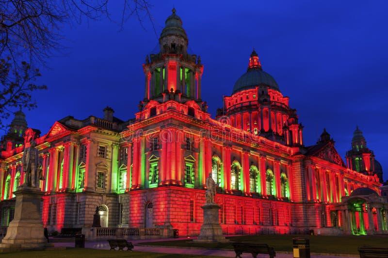 Ayuntamiento de Belfast imagen de archivo