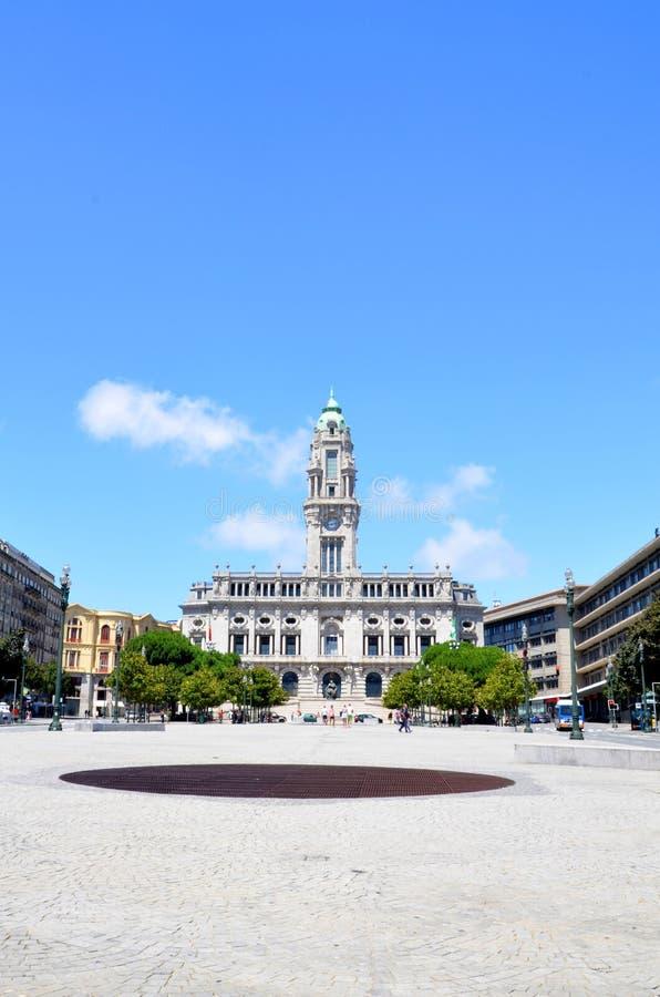 Ayuntamiento de DOS Aliados, Oporto del avenida imagen de archivo libre de regalías