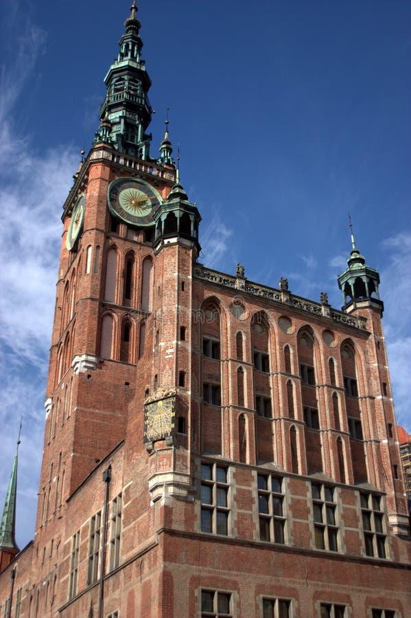 Ayuntamiento de Gdansk fotografía de archivo libre de regalías
