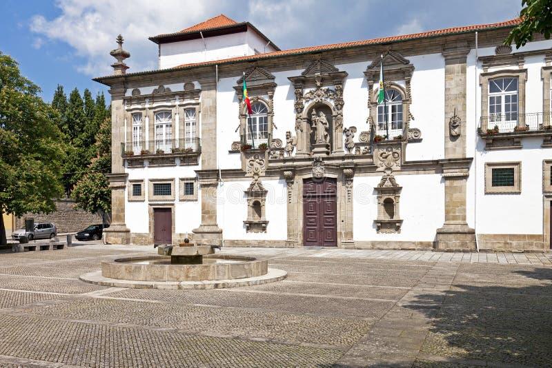 Ayuntamiento de Guimaraes, Guimaraes, Portugal foto de archivo
