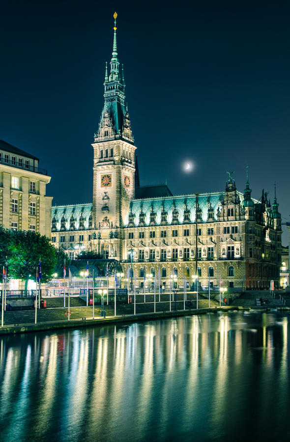 Ayuntamiento de Hamburgo, Alemania fotografía de archivo
