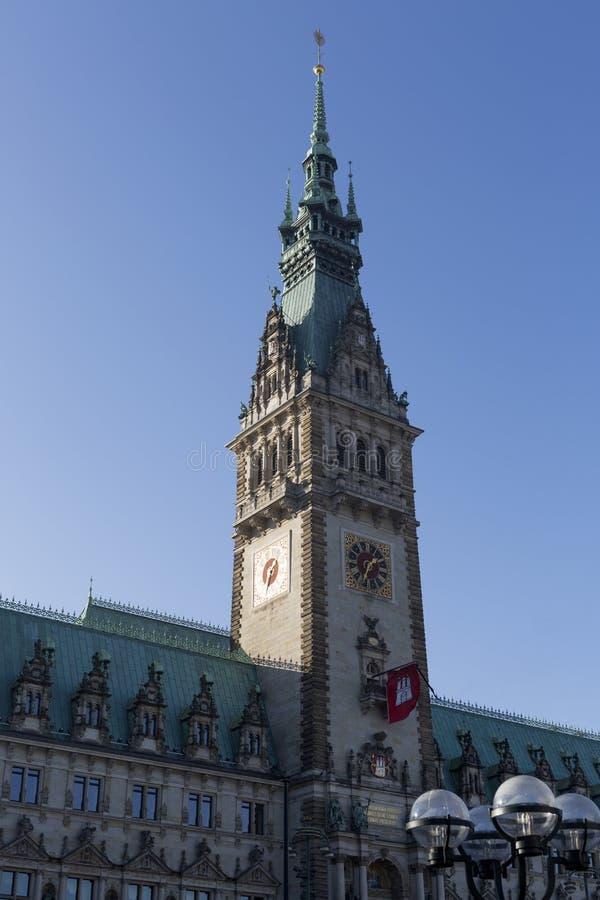 Ayuntamiento de Hamburgo, Alemania imágenes de archivo libres de regalías